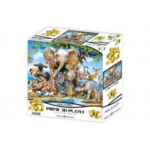 AFRICAN SMILE SUPER 3D PUZZLE 63 PIECES