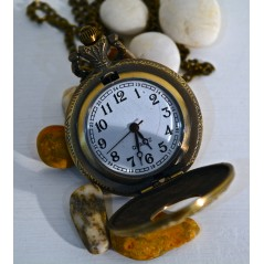Pocket Watch on Chain - Antique Style HWM-02