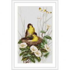 Cross Stitch Kit Birds in the nest B2240