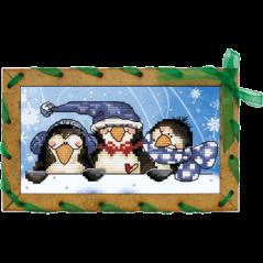 Postcard embroidery kit Penguins OP7504