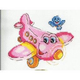 Cross Stitch kit Pink flight art. 18-55
