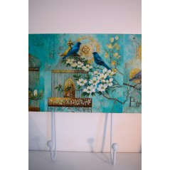 Quadruple hooks Blue Bird
