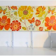 Quadruple hooks Flowers & Butterflies