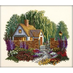 Cross Stitch Kit A house with willows R198