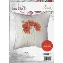 Cross Stitch Kit Pillow Poppies PB122