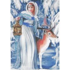 Bead embroidery kit Snow White art. 702