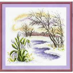 Cross Stitch Kit Snowdrops PS-0683