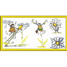 Cross Stitch Kit Divination with a daisy VK-602