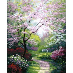 PAINT BY NUMBERS KIT GARDEN 40X50 CM framed