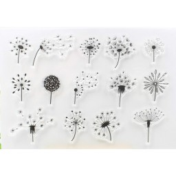 Dandelion Transparent Clear Silicone Stamp/Seal for DIY scrapbooking/photo album Decorative clear stamp