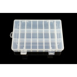 24 Compartment Storage Box Practical Adjustable Plastic Case for Diamond Painting Bead Rings Jewelry Display Organizer