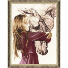 Cross Stitch Kit Girl with horse SV-016