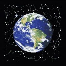Cross Stitch Kit Planet Earth PZ-0301