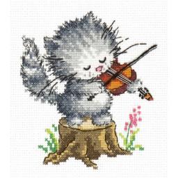 Cross Stitch Kit Young talent (cat) art. 15-17