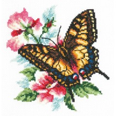 Cross Stitch Kit Butterfly Mahaon art. 42-10