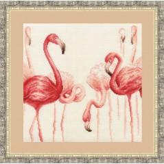 Cross Stitch Kit Flamingo 3 F-003