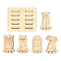 MOULINE SPOOL SET ANIMALS (10 PCS) + HOLDER OR-040