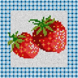 TAPESTRY CANVAS Strawberry 15x15cm 1267D