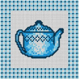 TAPESTRY CANVAS Tea 15x15cm 1394D  (Discontinued)