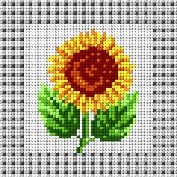 TAPESTRY CANVAS Sunflower 15x15cm 1400D