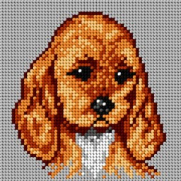 TAPESTRY CANVAS Small Spaniel 15x15cm 1469D
