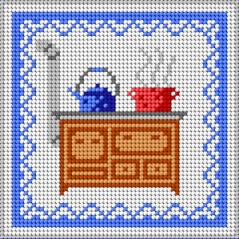 TAPESTRY CANVAS Kitchen 15x15cm 1603D