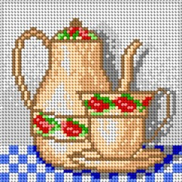 TAPESTRY CANVAS Tea 15x15cm 1610D
