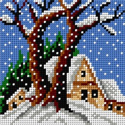 TAPESTRY CANVAS Winter 15x15cm 1776D