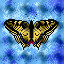 TAPESTRY CANVAS Butterfly 15x15cm 1822D