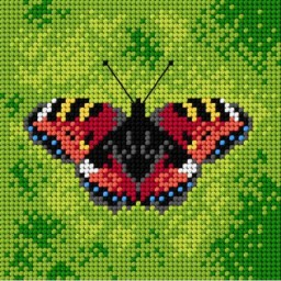 TAPESTRY CANVAS Butterfly 15x15cm 1823D