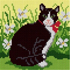 TAPESTRY CANVAS Black Cat 15x15cm 1830D