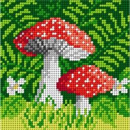 TAPESTRY CANVAS Mushroom 15x15cm 1837D