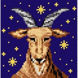 TAPESTRY CANVAS Zodiac Capricorn 15x15cm 2091D