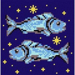 TAPESTRY CANVAS Zodiac Pisces 15x15cm 2108D