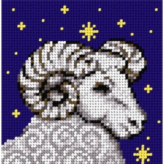 TAPESTRY CANVAS Zodiac Aries 15x15cm 2109D