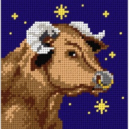 TAPESTRY CANVAS Zodiac Taurus 15x15cm 2130D