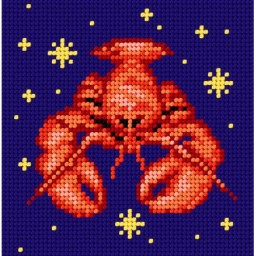 TAPESTRY CANVAS Zodiac Cancer 15x15cm 2145D
