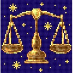 TAPESTRY CANVAS Zodiac Libra 15x15cm 2154D
