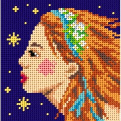 TAPESTRY CANVAS Zodiac Virgo 15x15cm 2155D