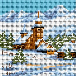 TAPESTRY CANVAS Winter day 15x15cm 2168D
