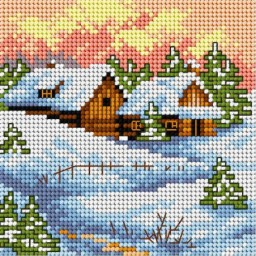 TAPESTRY CANVAS Winter 15x15cm 2169D