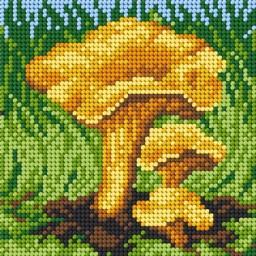 TAPESTRY CANVAS Mushroom 15x15cm 2202D
