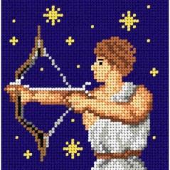TAPESTRY CANVAS Zodiac Sagittarius 15x15cm 2207D
