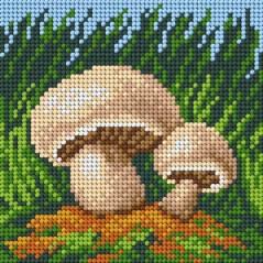 TAPESTRY CANVAS Mushrooms 15x15cm 2208D
