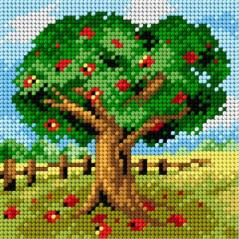 TAPESTRY CANVAS Apple tree 15x15cm 2288D