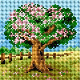 TAPESTRY CANVAS Apple Tree 15x15cm 2289D