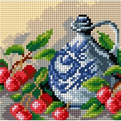 TAPESTRY CANVAS Still Life with a Blue Carafe 15x15cm 2359D
