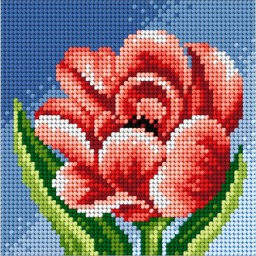 TAPESTRY CANVAS Peony 15x15cm 2443D