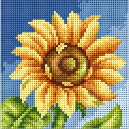 TAPESTRY CANVAS Sunflower 15x15cm 2444D