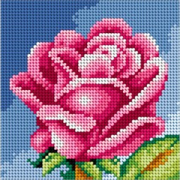 TAPESTRY CANVAS Rose 15x15cm 2445D
